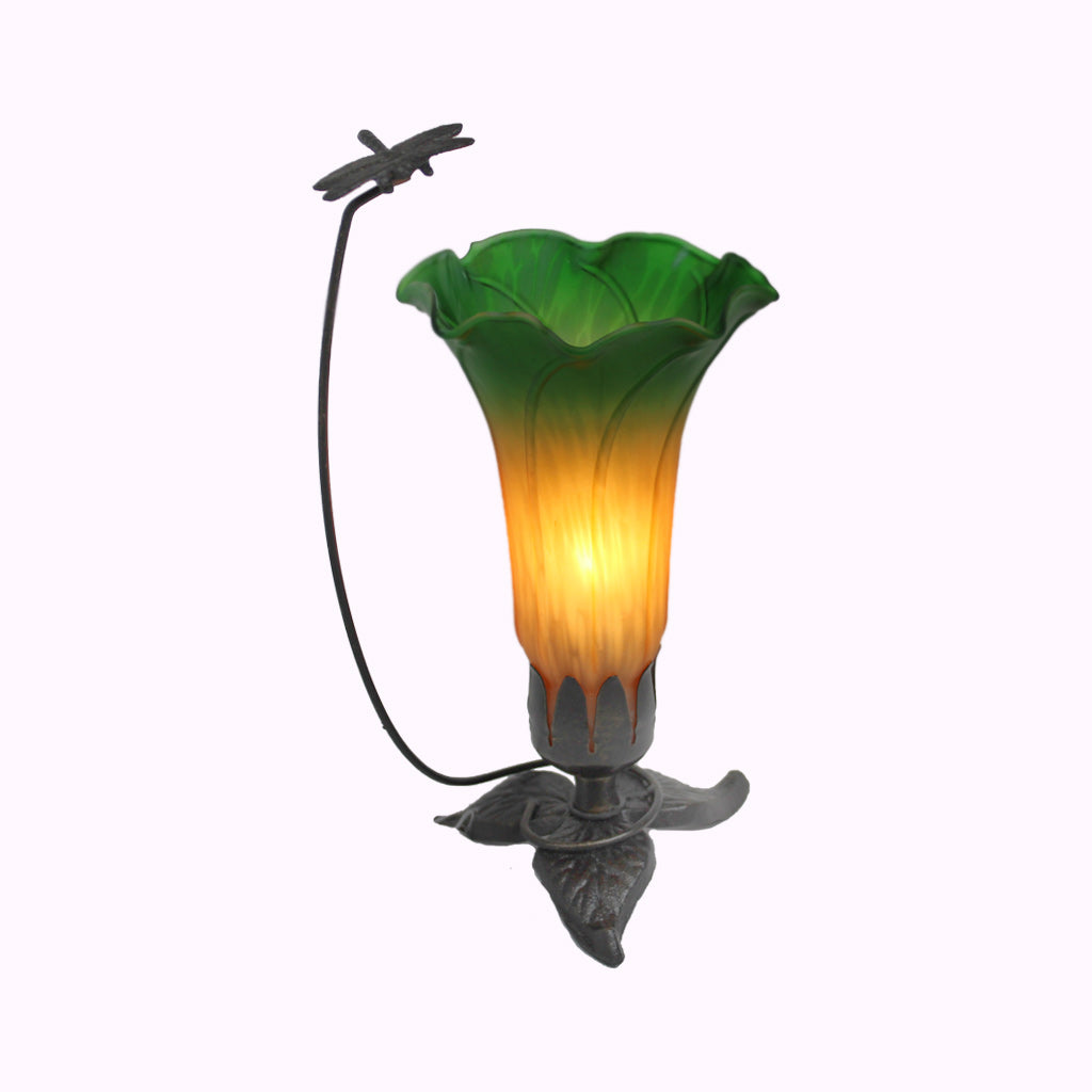 Eternal Dragonfly Sculptured Bronze Lamp