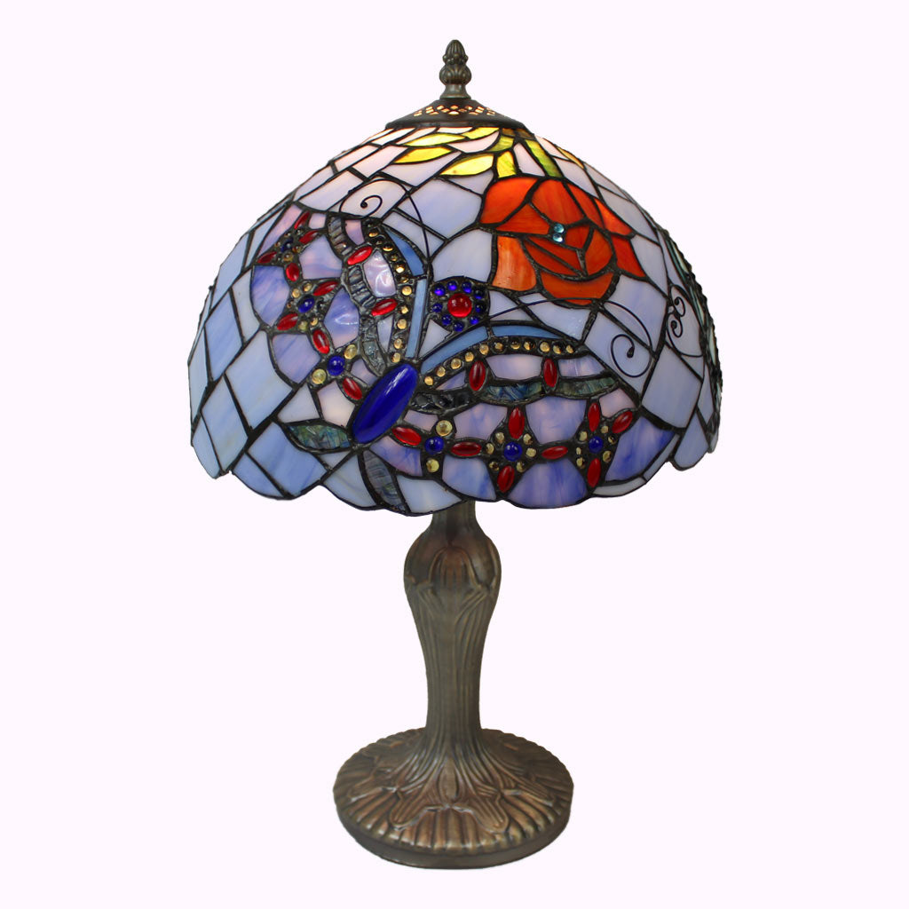 Fancy Butterflies Tiffany Table Lamp
