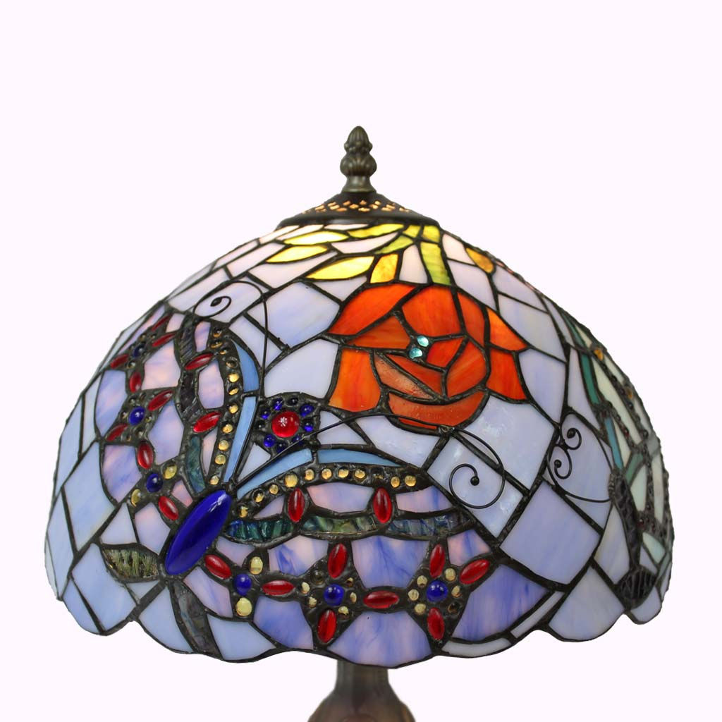 Fancy Butterflies Tiffany Table Lamp from Memory Lane Lamps