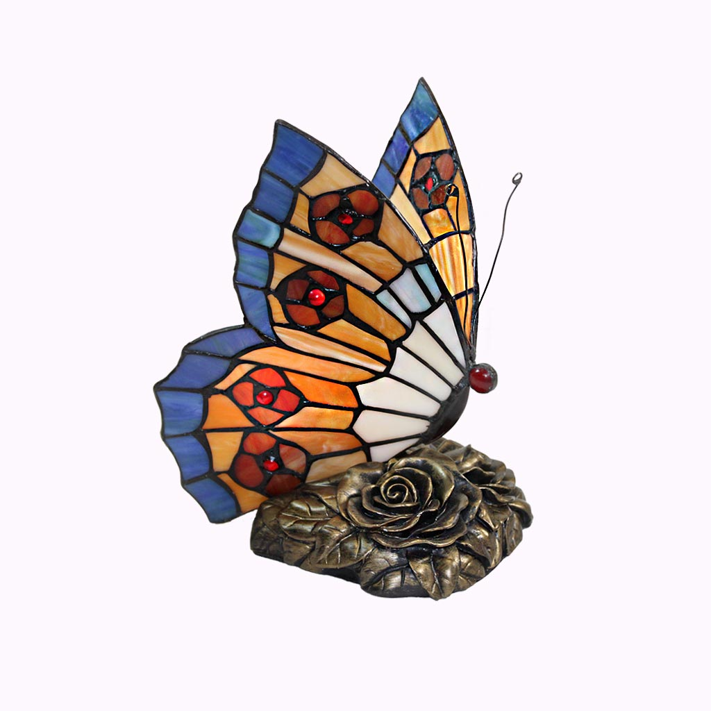Flowers Butterfly Tiffany Lamp