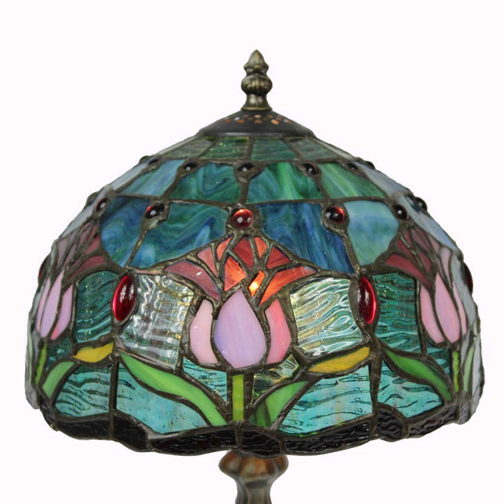 Flowers by the Water Tiffany Table Lamp