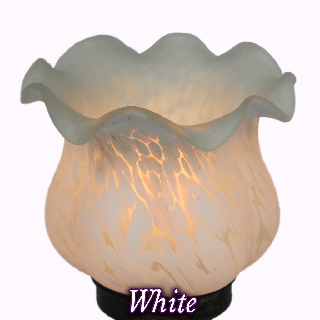 Replacement Glass Globe Shade - White
