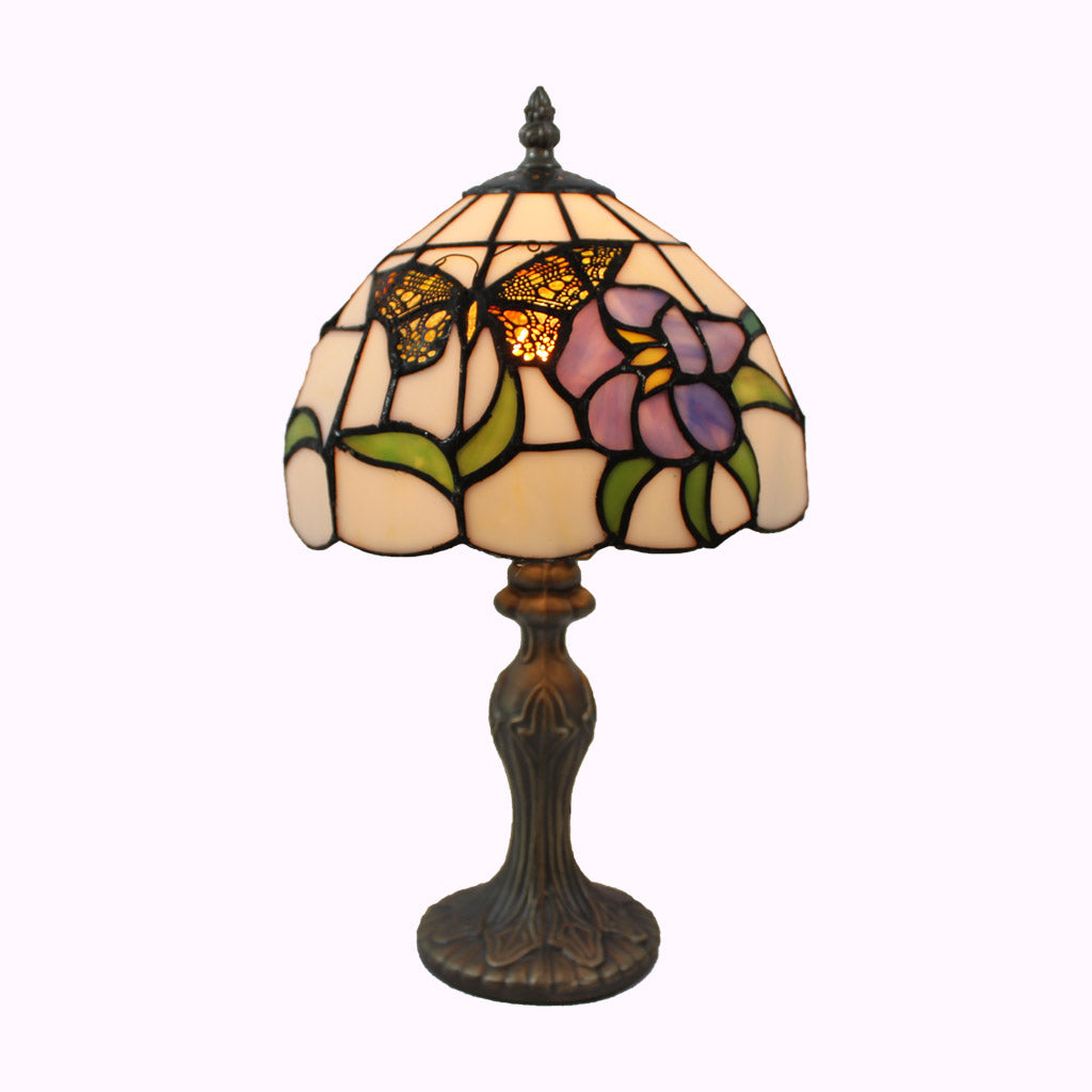 Golden Butterfly Tiffany Accent Lamp
