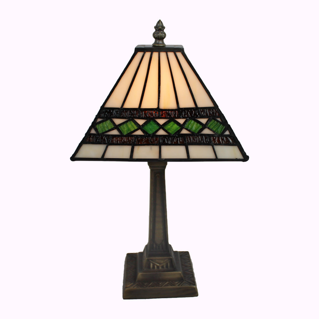 Green Diamond Mission Table Lamp