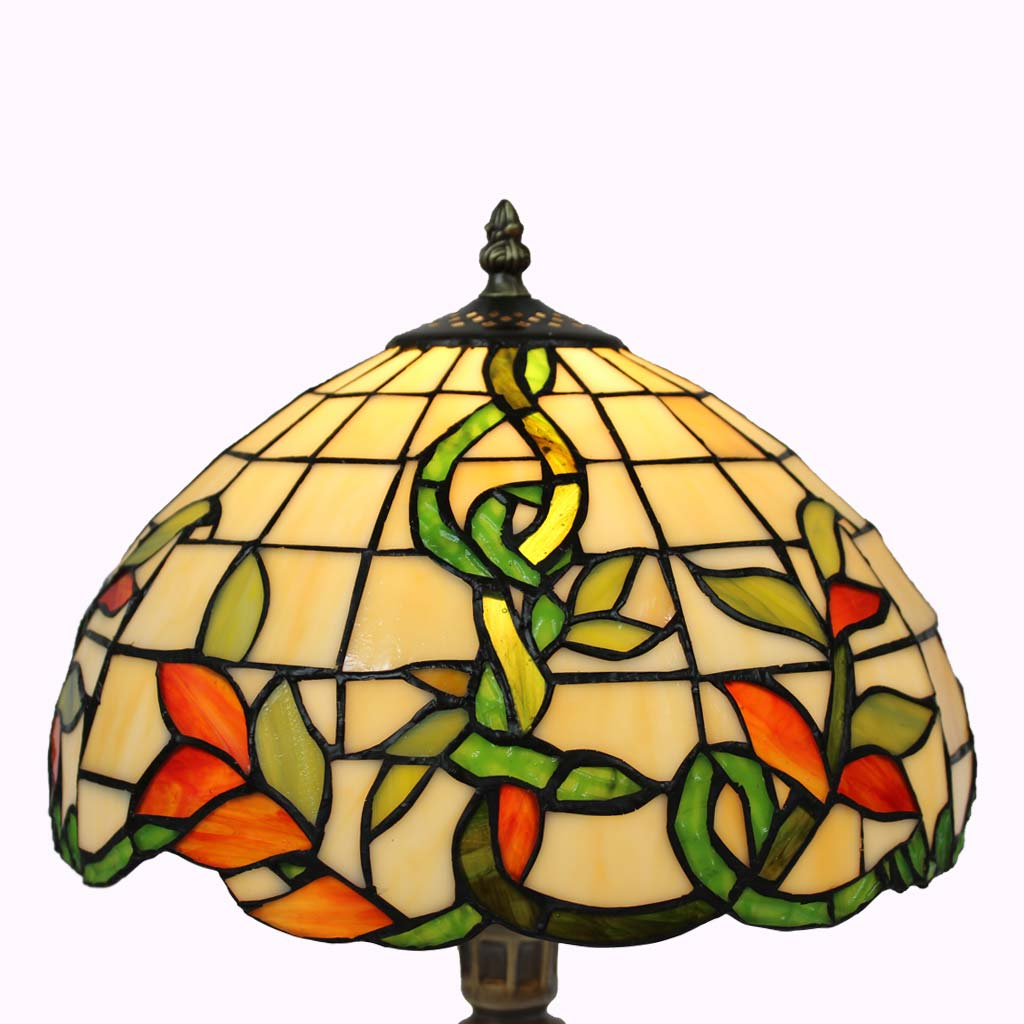 Irish Vine Tiffany Table Lamp from Memory Lane Lamps