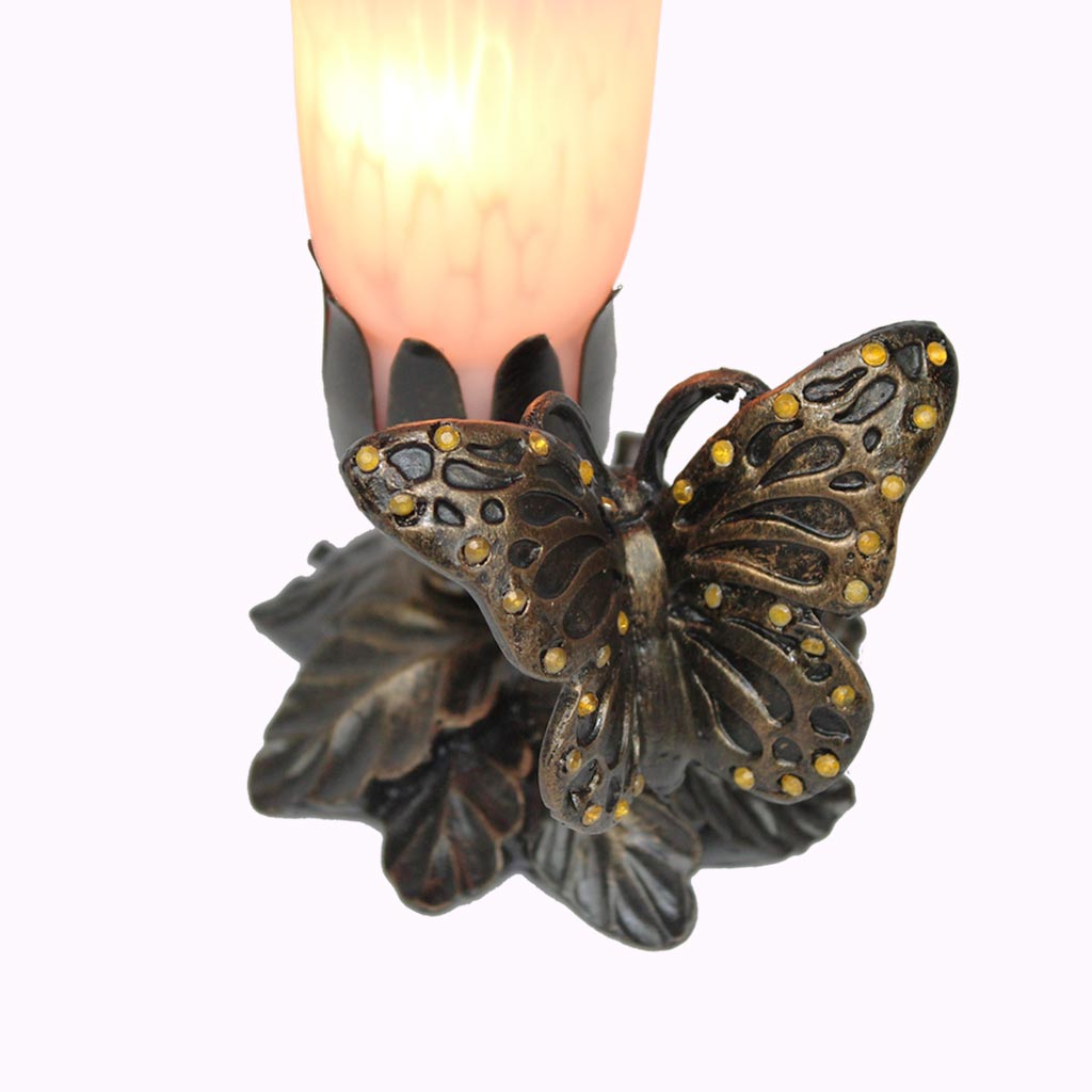 Jeweled Butterfly Sculptured Bronze Lamp from Memory Lane Lamps