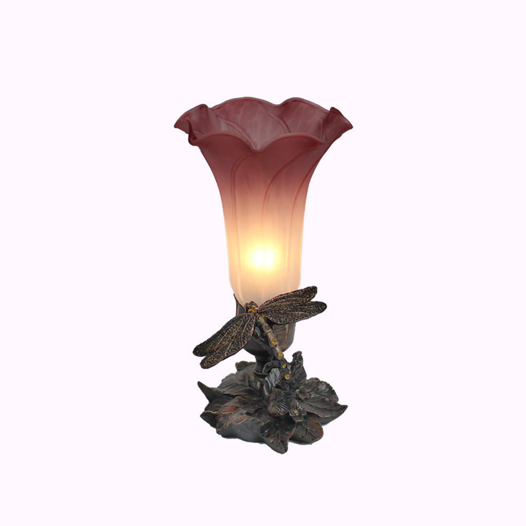 Jeweled Dragonfly Sculptured Bronze Lamp