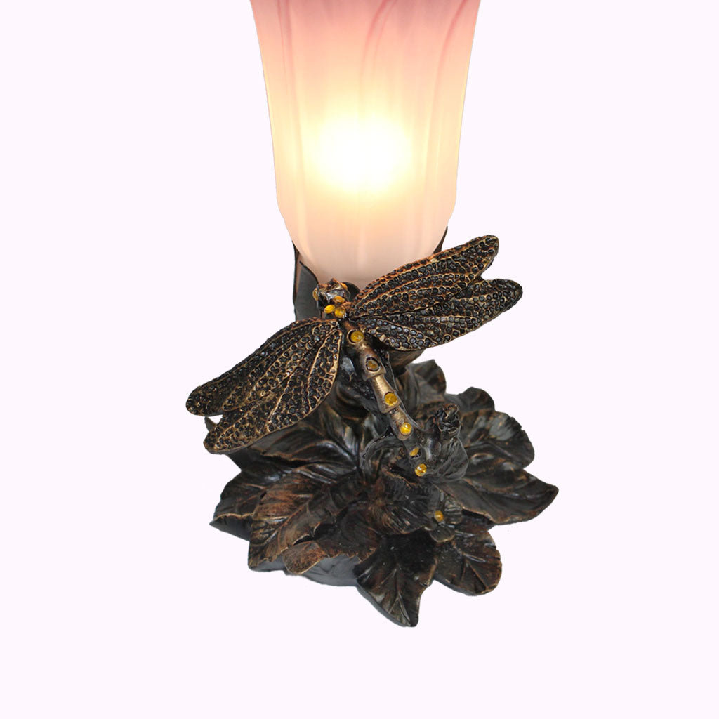 Jeweled Dragonfly Sculptured Bronze Lamp from Memory Lane Lamps