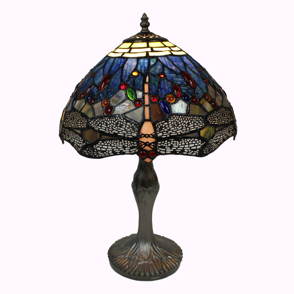 Large Dragonfly Tiffany Table Lamp