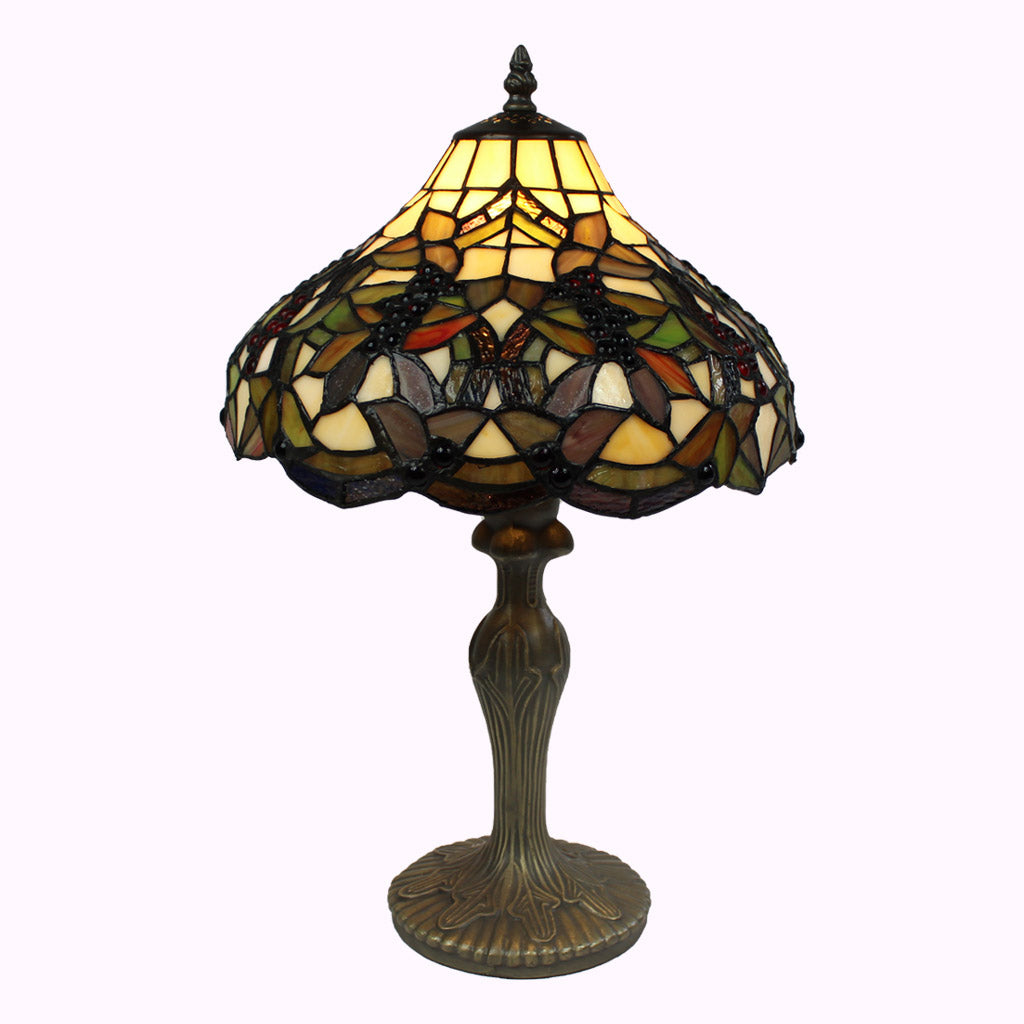 Large Grapevine Tiffany Table Lamp