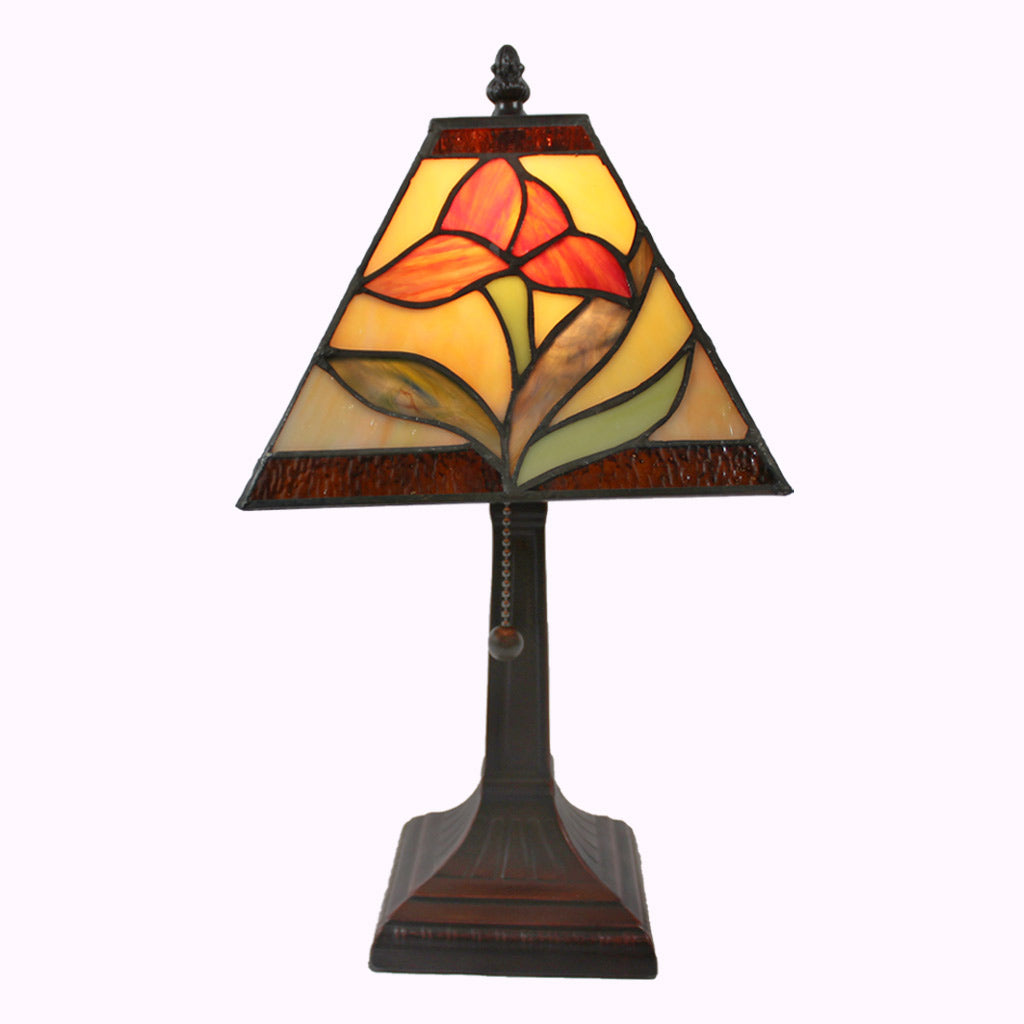 Large Iris Mission Table Lamp