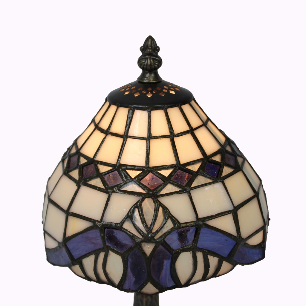 Lavender Baroque Tiffany Table Lamp