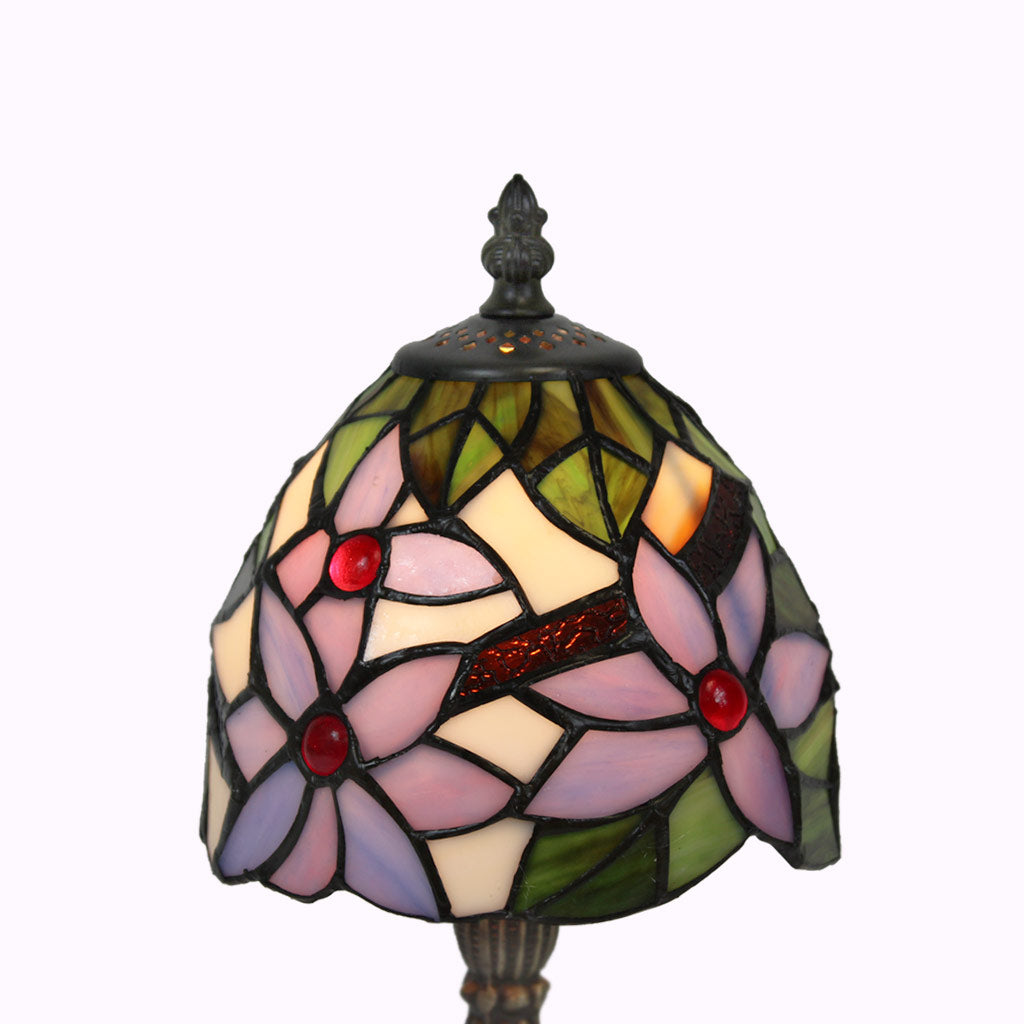 Lavender Lilies Tiffany Lamp