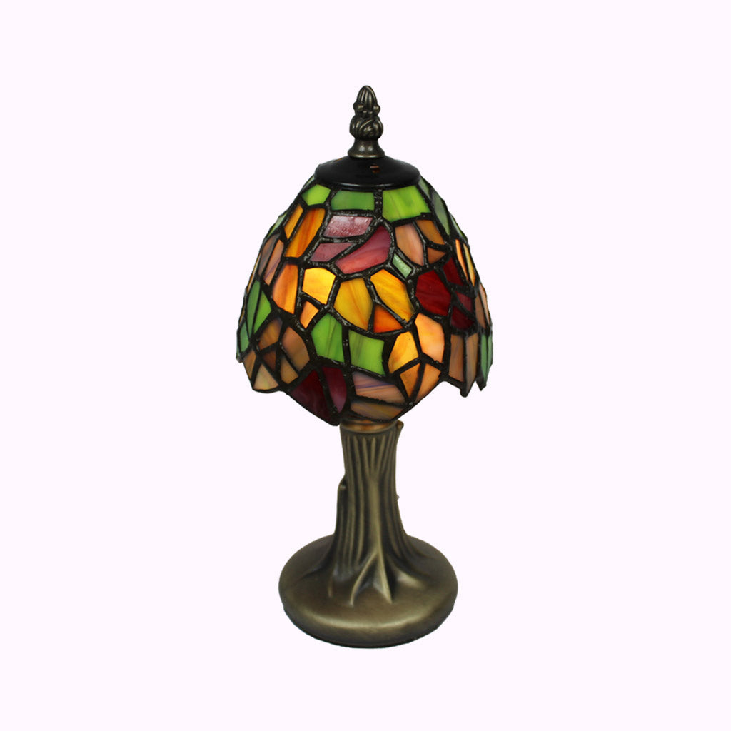 Mini Grape Leaves Tiffany Accent Lamp