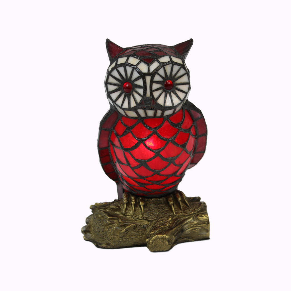 Owl Tiffany Accent Lamp