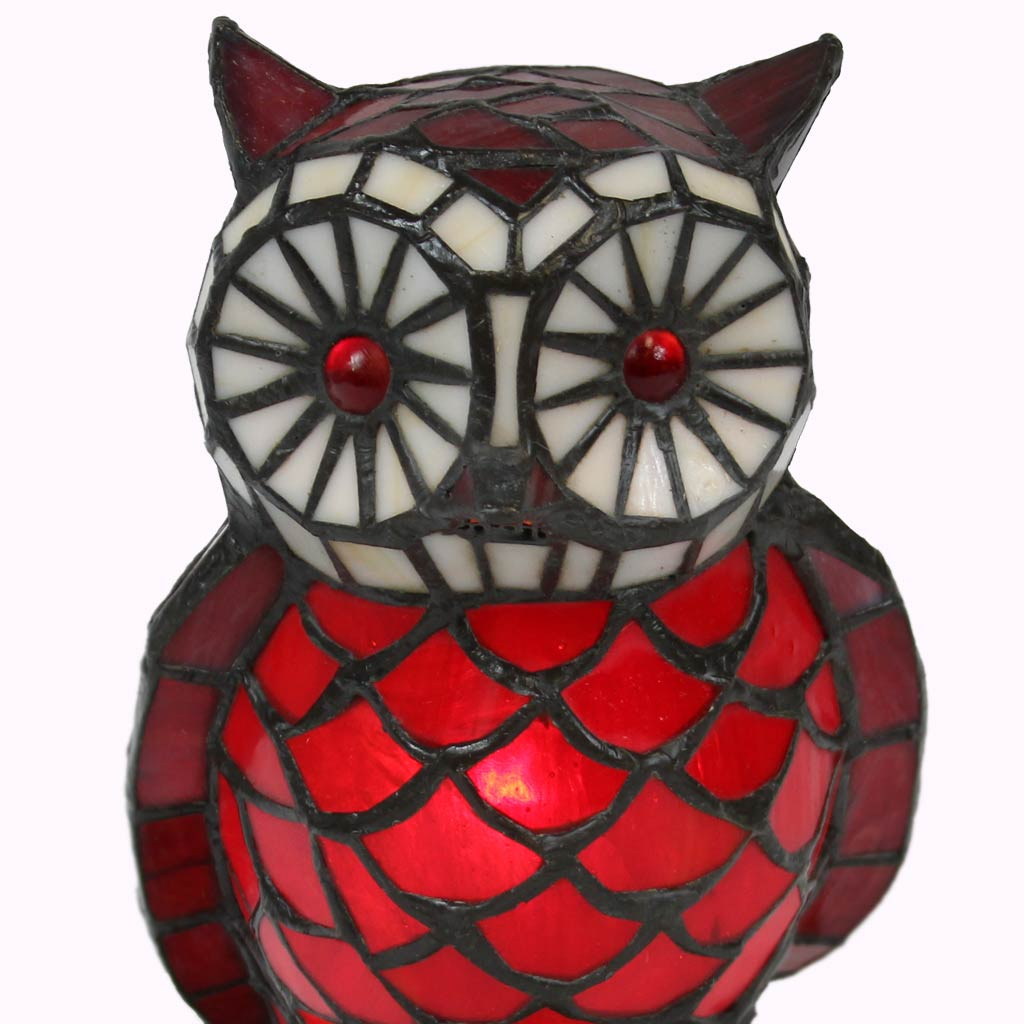 Owl Tiffany Accent Lamp from Memory Lane Lamps