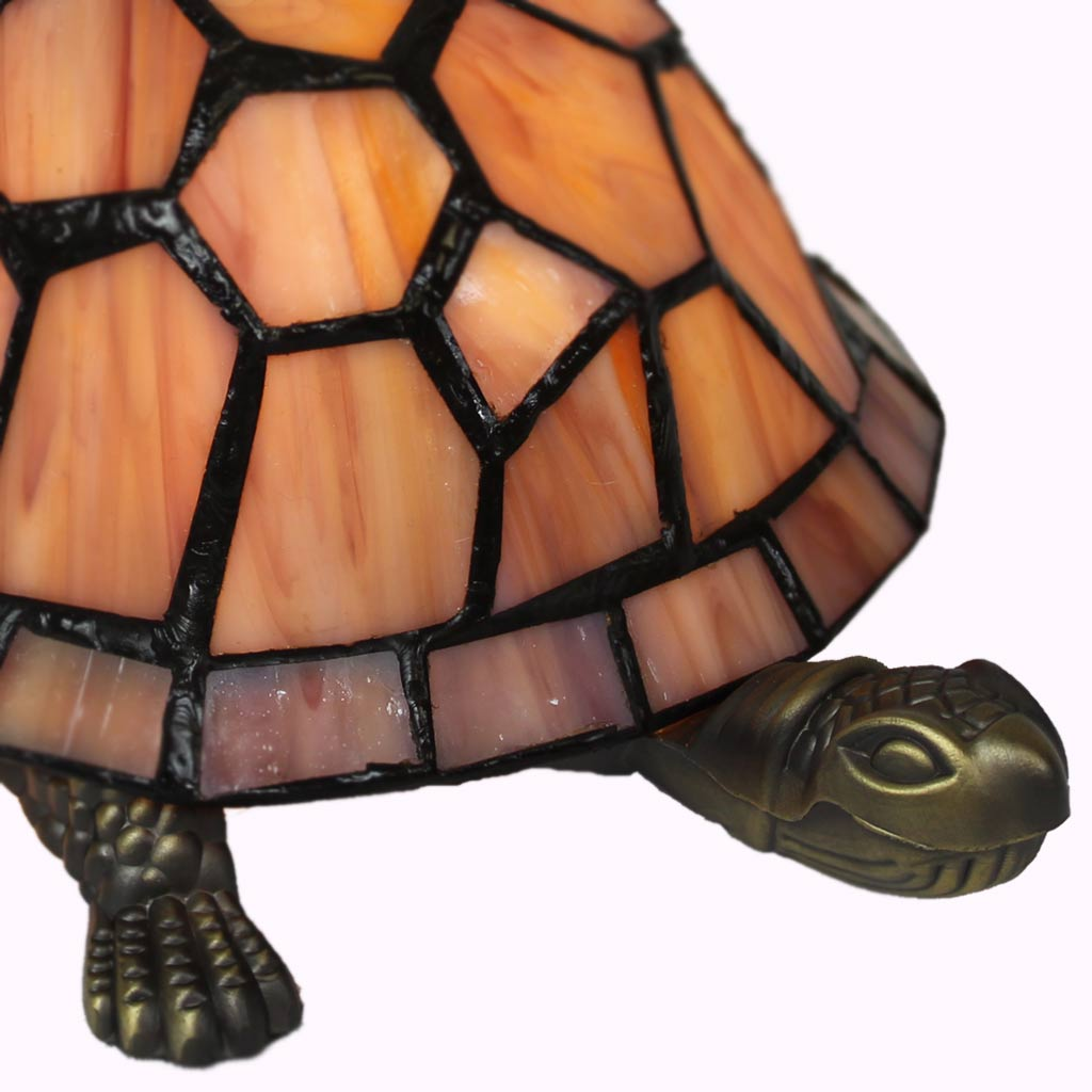 Painters Turtle Tiffany Lamp