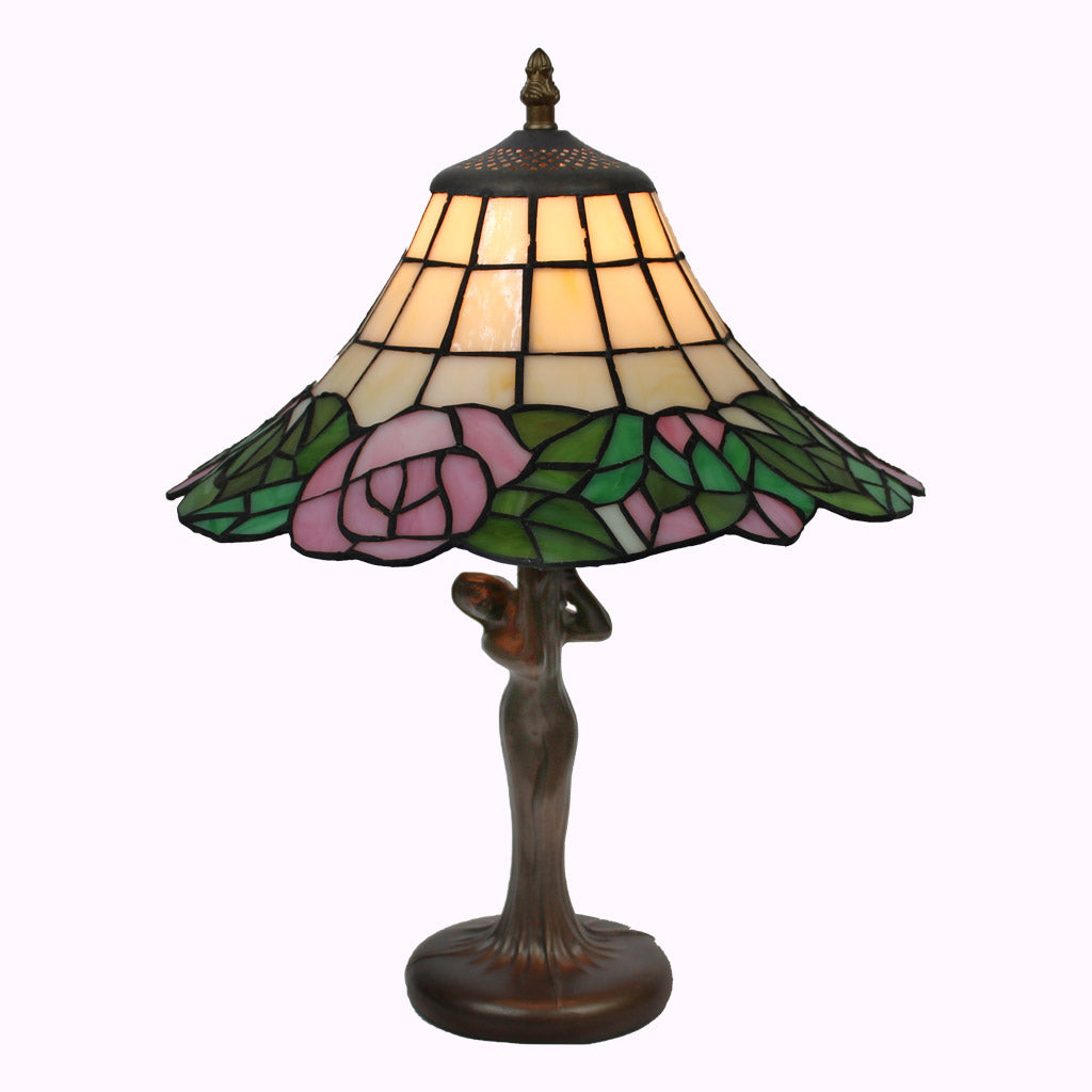 Parasol with Lady Base Tiffany Lamp