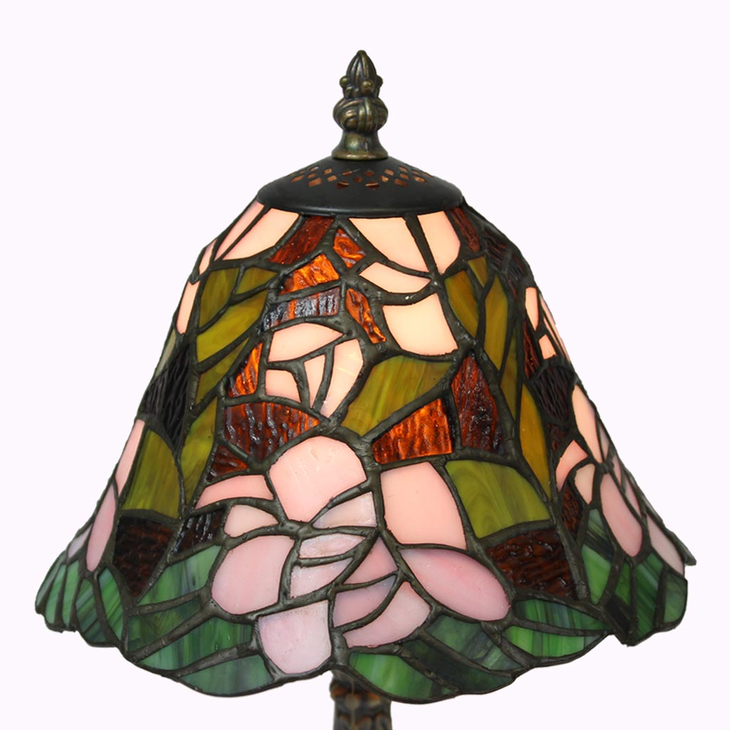 Pink Begonia Tiffany Table Lamp