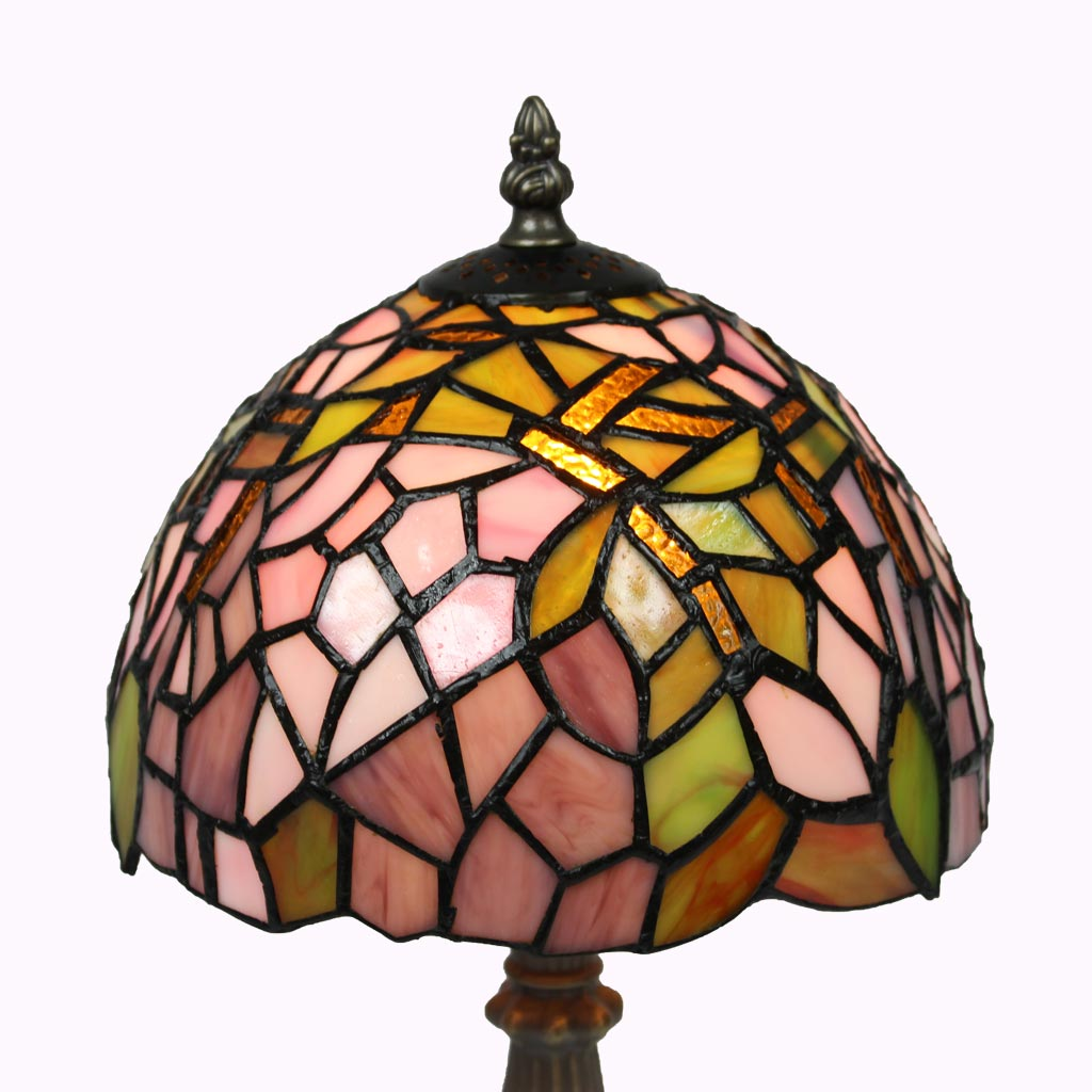 Pink Lilac Garden Tiffany Table Lamp