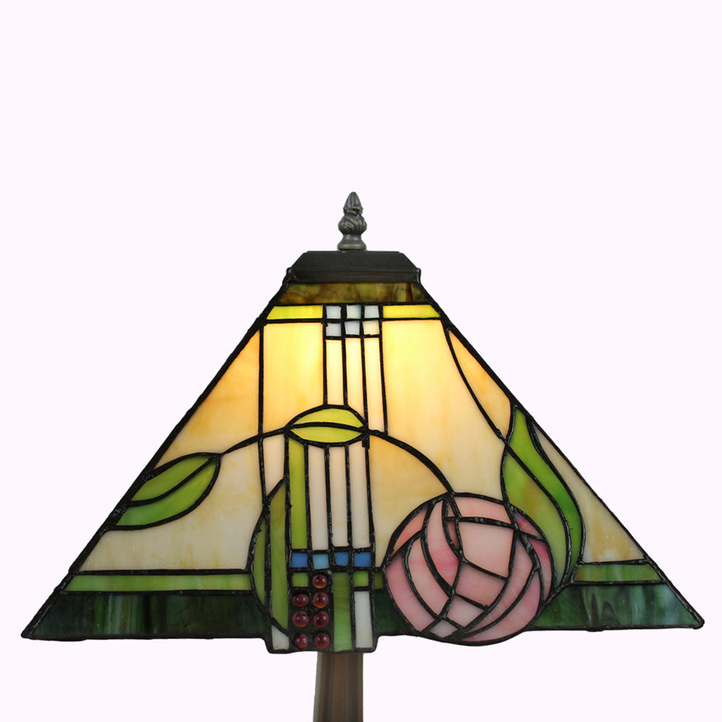 Pink Rose Macintosh Mission Table Lamp