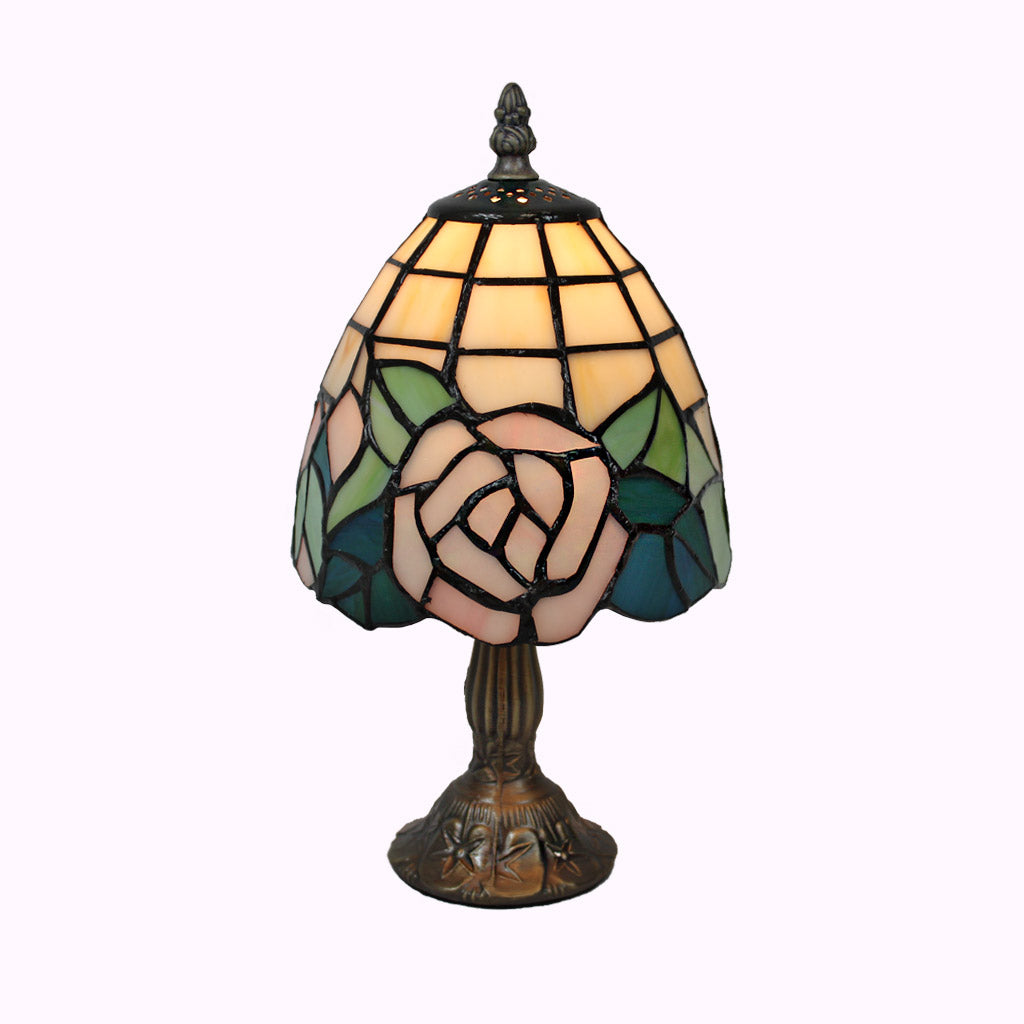 Pink Rose Tiffany Lamp