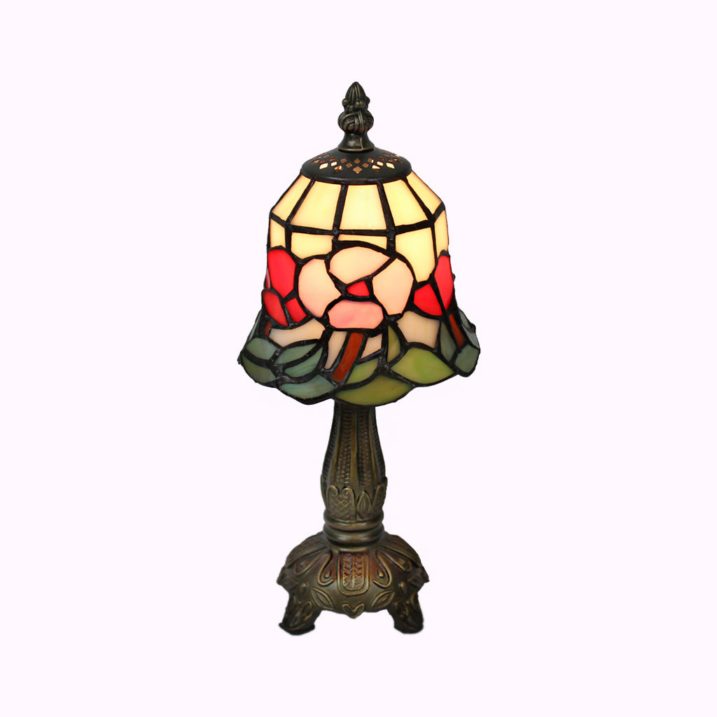 Red and Pink Poppies Tiffany Lamp