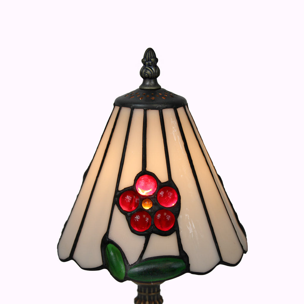 Red Flower Mission Accent Lamp