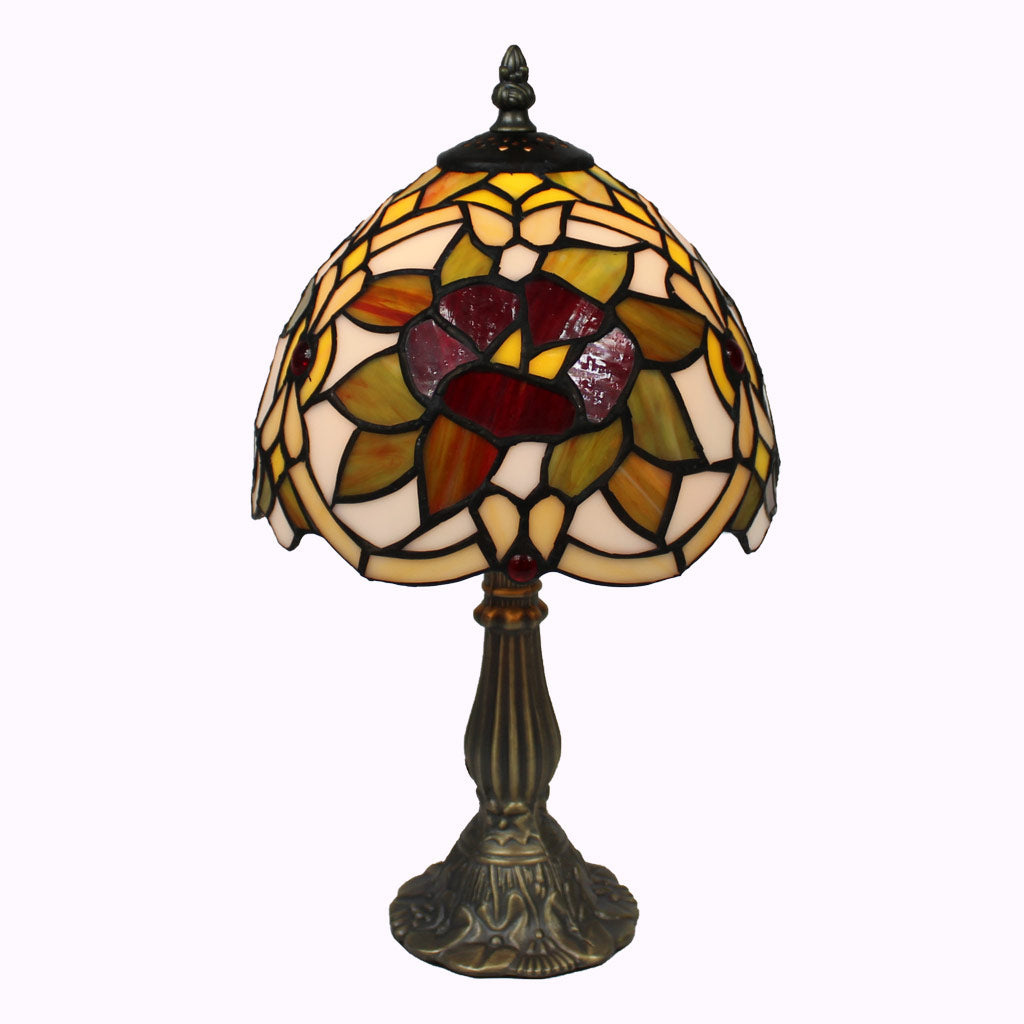Renaissance Rose Tiffany Accent Lamp