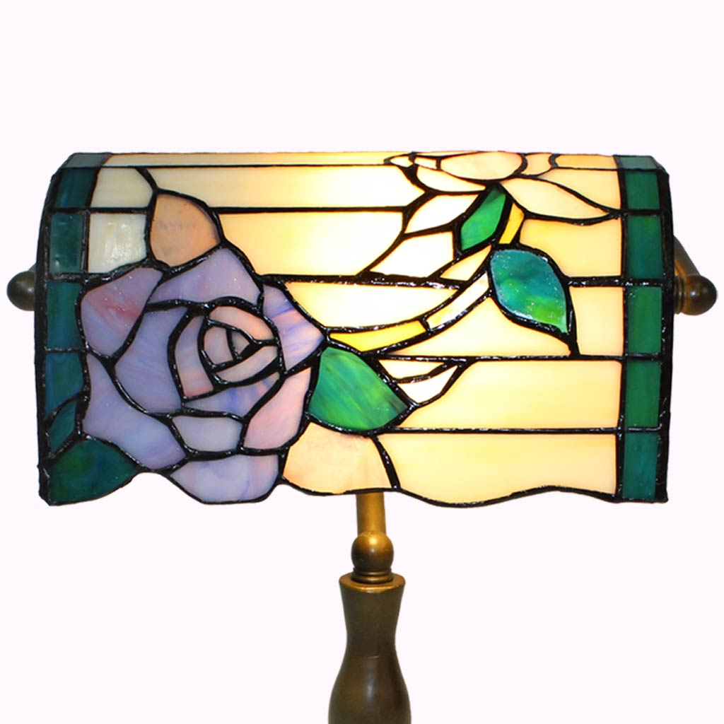 Rose Bankers Tiffany Lamp from Memory Lane Lamps