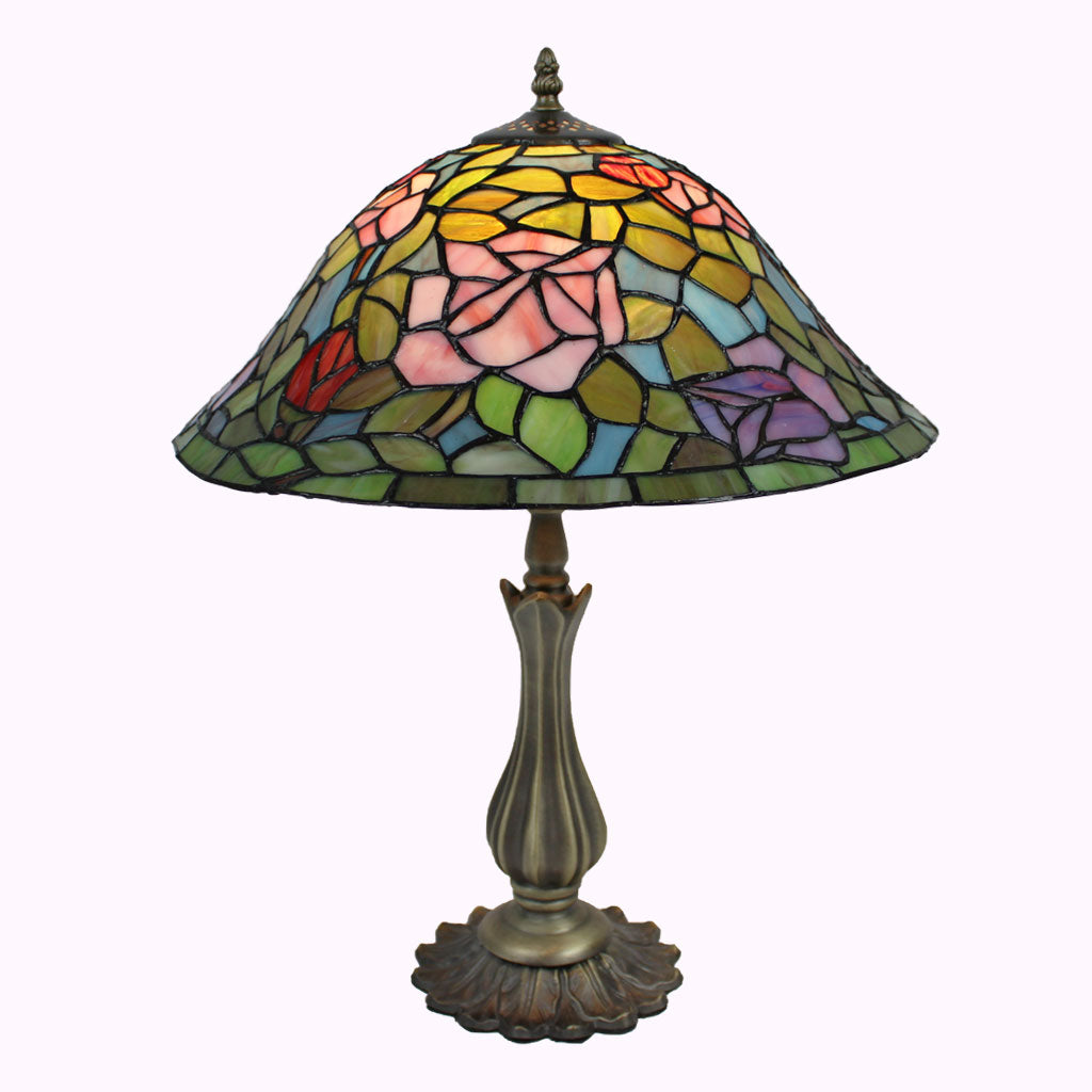 Rosebush Tiffany Table Lamp