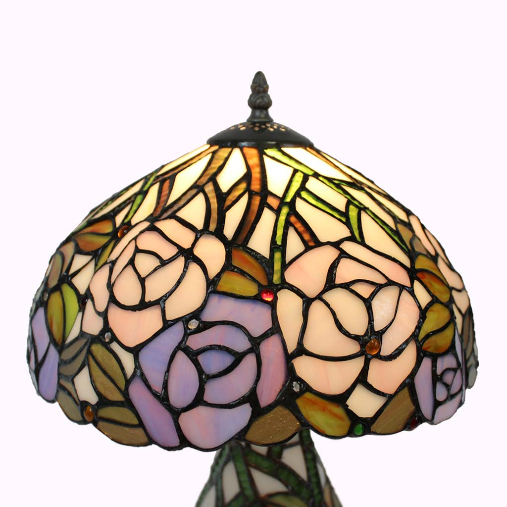 Roses Galore! Tiffany Table Lamp from Memory Lane Lamps