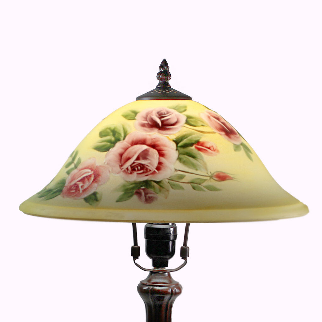 Roses in Bloom Handale Accent Lamp