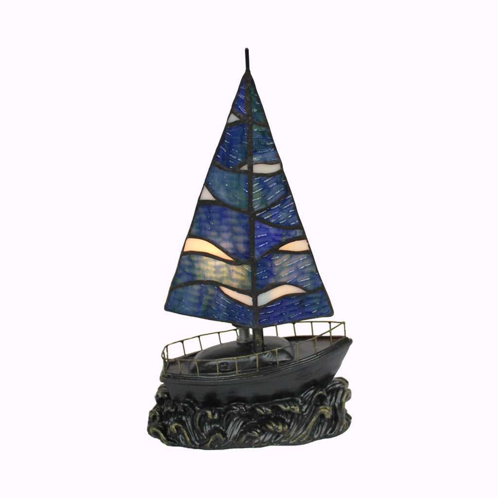 Sailboat Sculptured Bronze Lamp