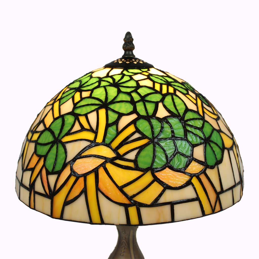 Shamrock Tiffany Table Lamp