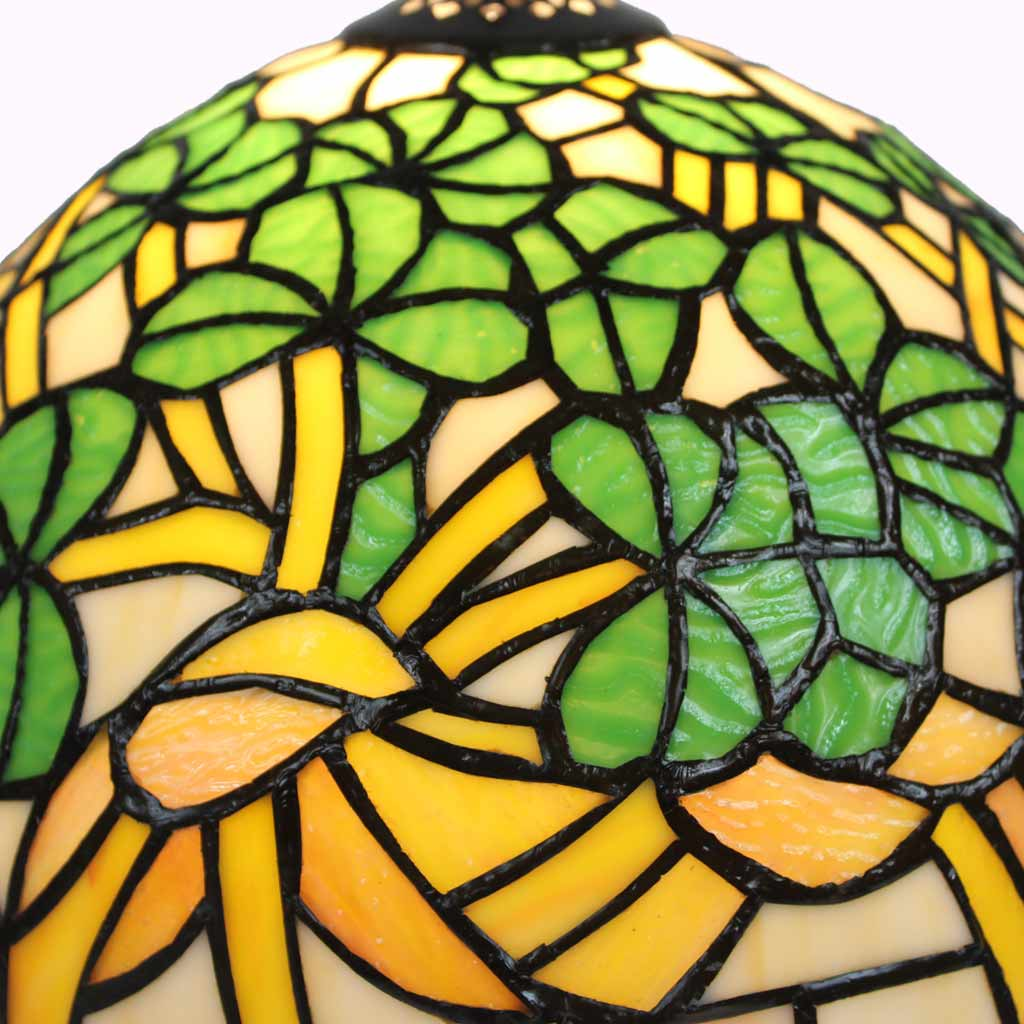 Shamrock Tiffany Table Lamp from Memory Lane Lamps