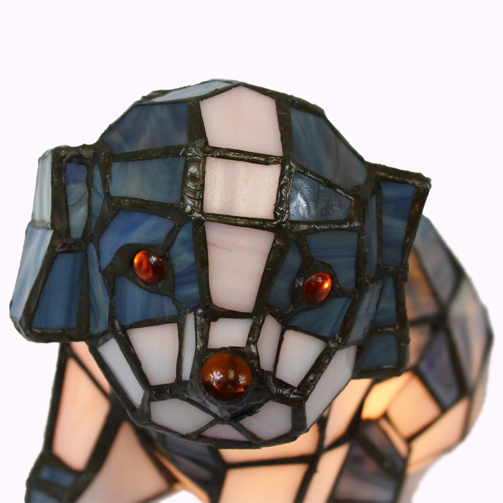 Sitting Dog Tiffany Lamp from Memory Lane Lamps