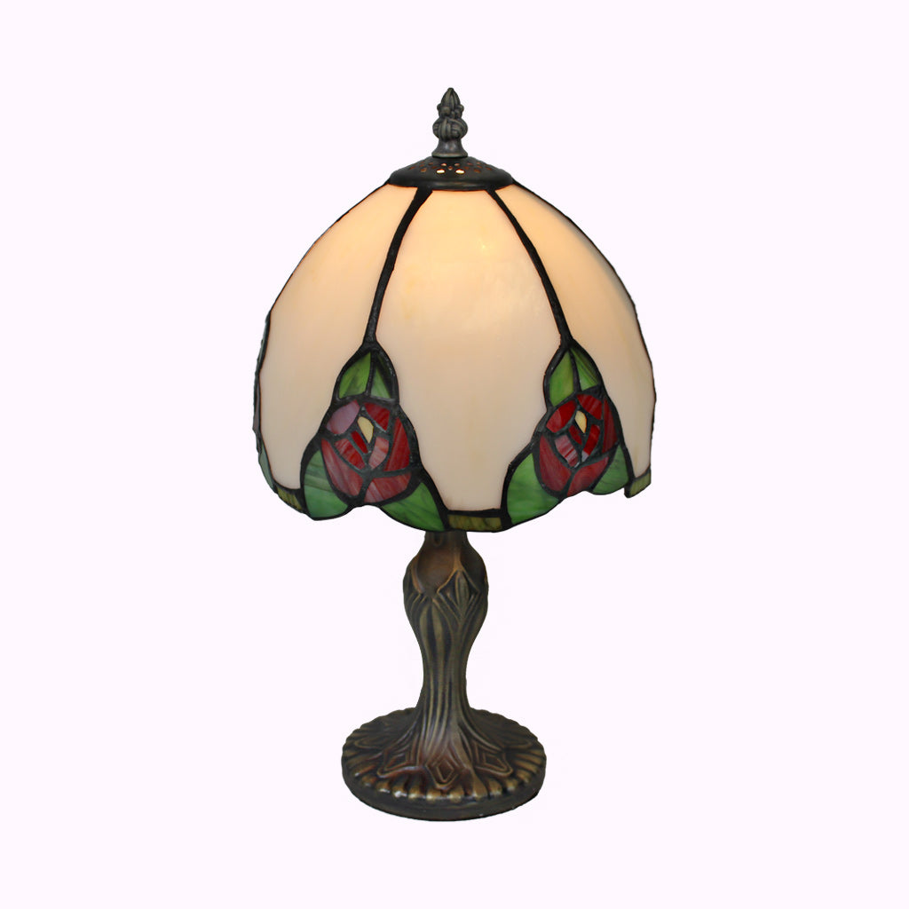 Six Red Roses Tiffany Table Lamp