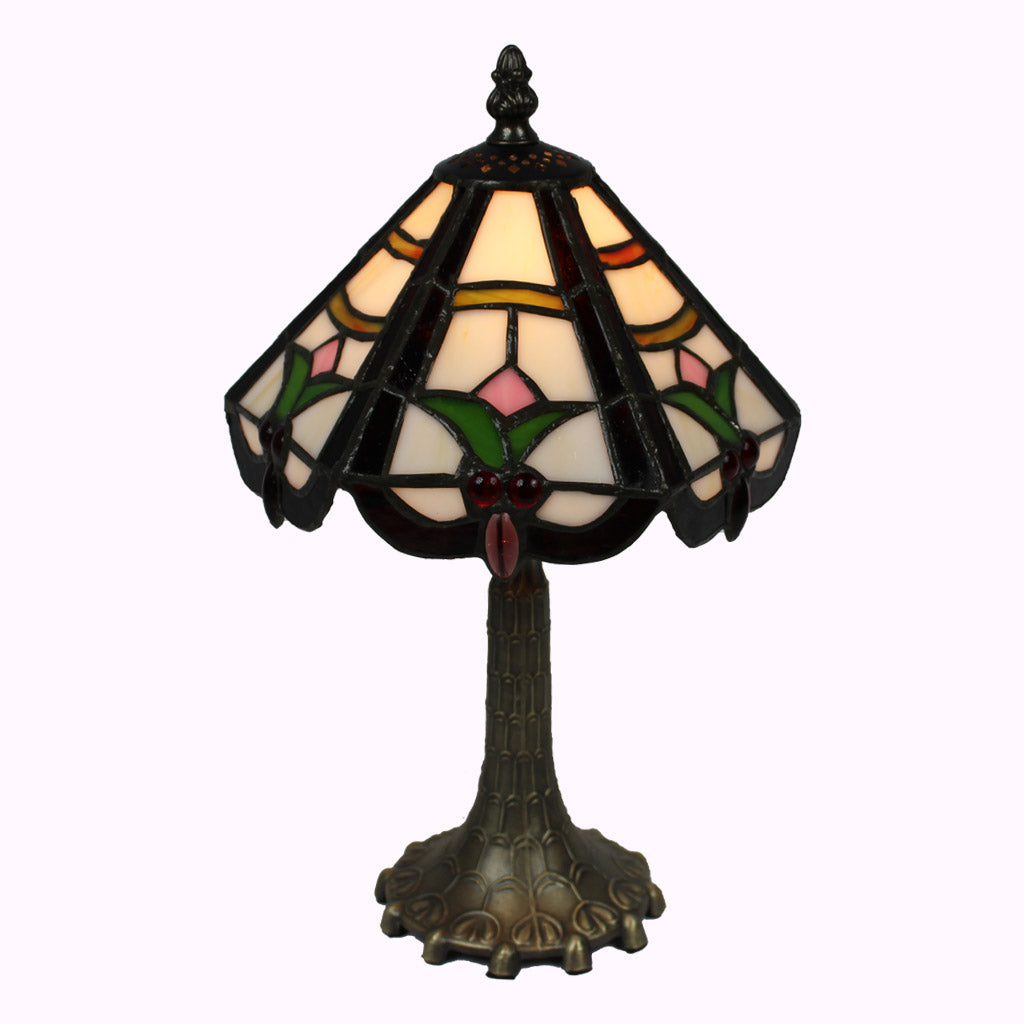 Six-sided Tulips Mission Table Lamp