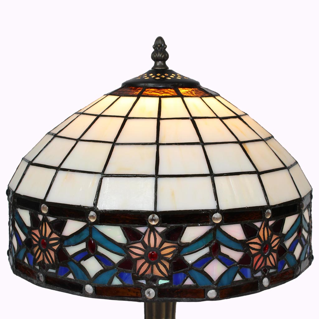 Star Ribbon Border Tiffany Table Lamp