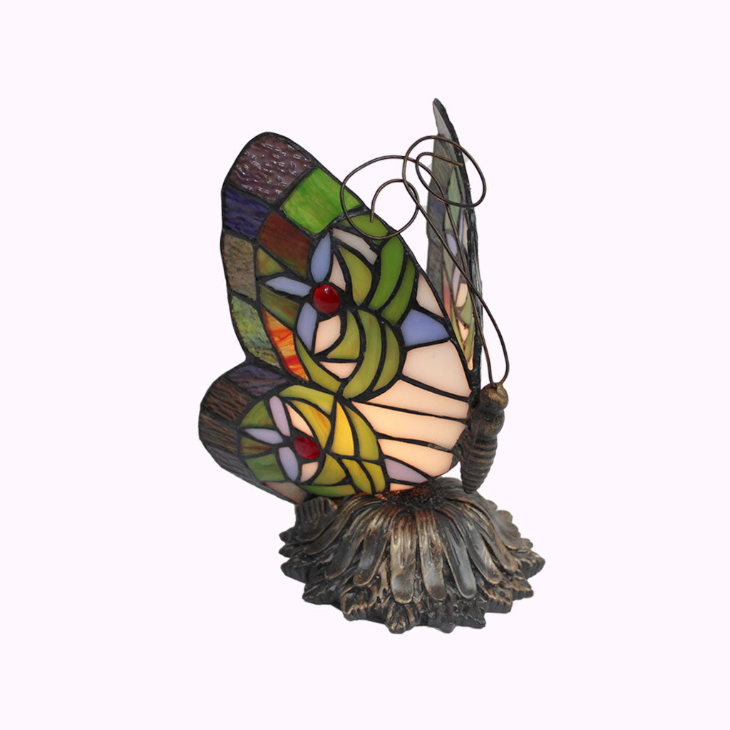 Sunflower Butterfly Sculptured Bronze Lamp