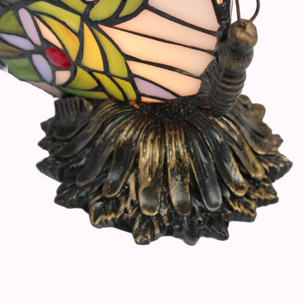 Sunflower Butterfly Sculptured Bronze Lamp from Memory Lane Lamps
