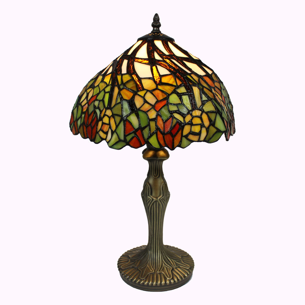 Swirled Garden Tiffany Table Lamp