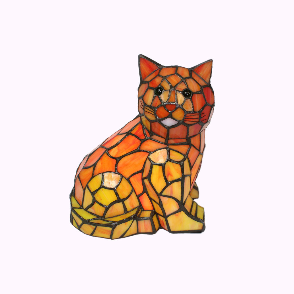 Tabby Cat Tiffany Lamp