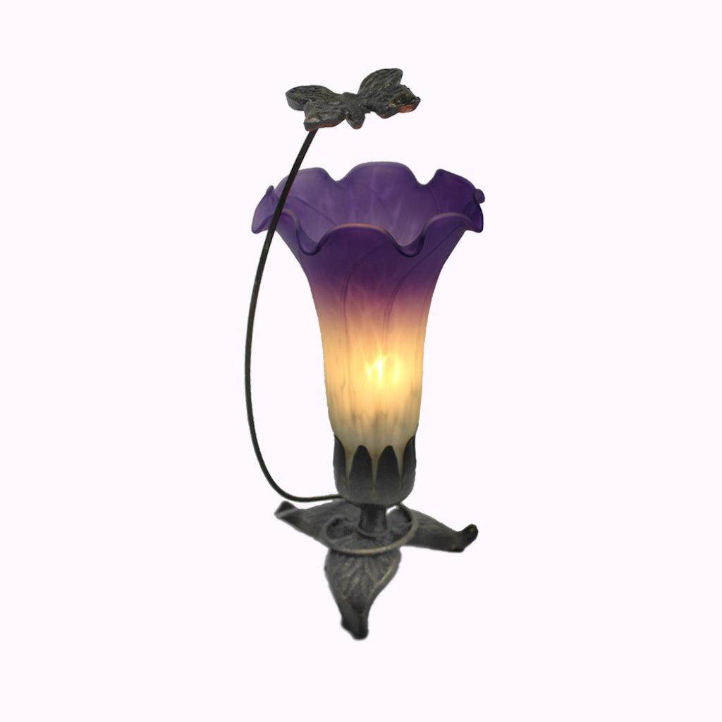 Tall Butterfly Sculptured Bronze Lamp