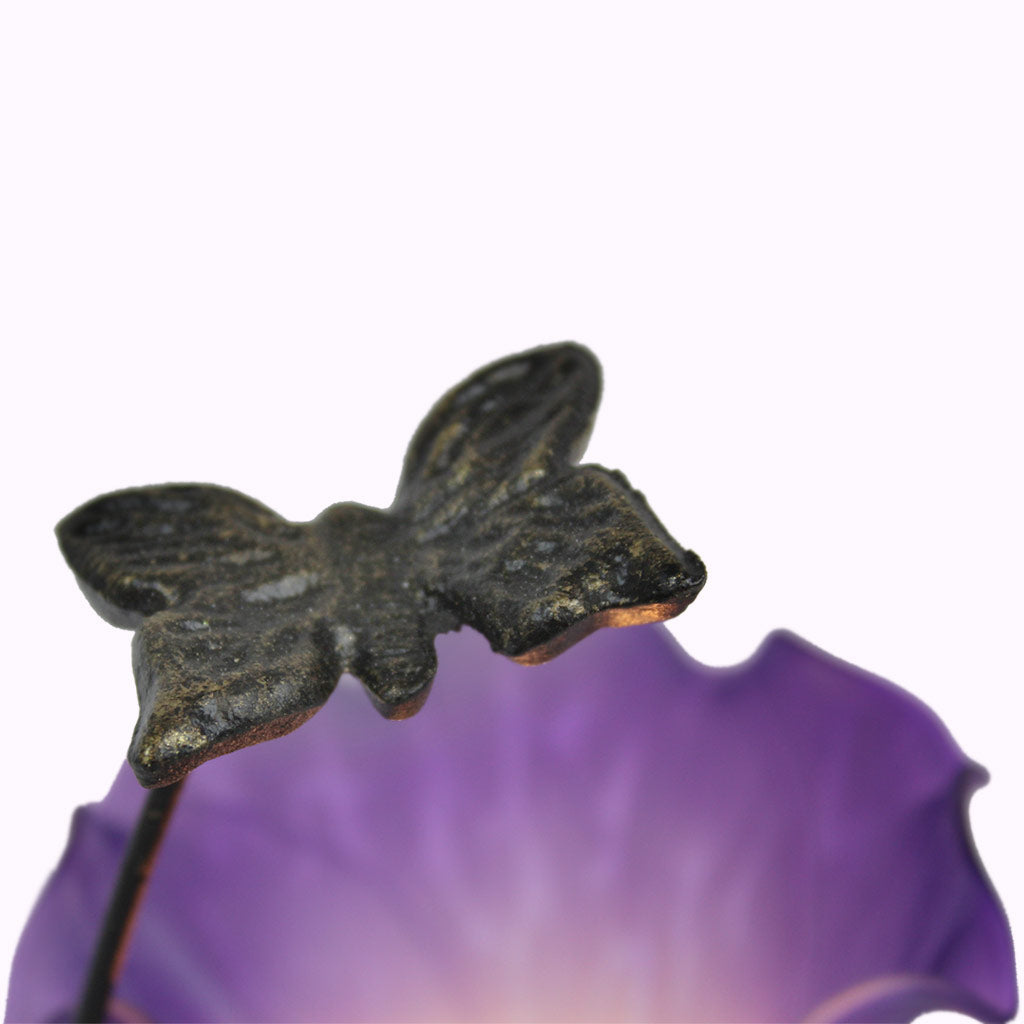 Tall Butterfly Sculptured Bronze Lamp from Memory Lane Lamps