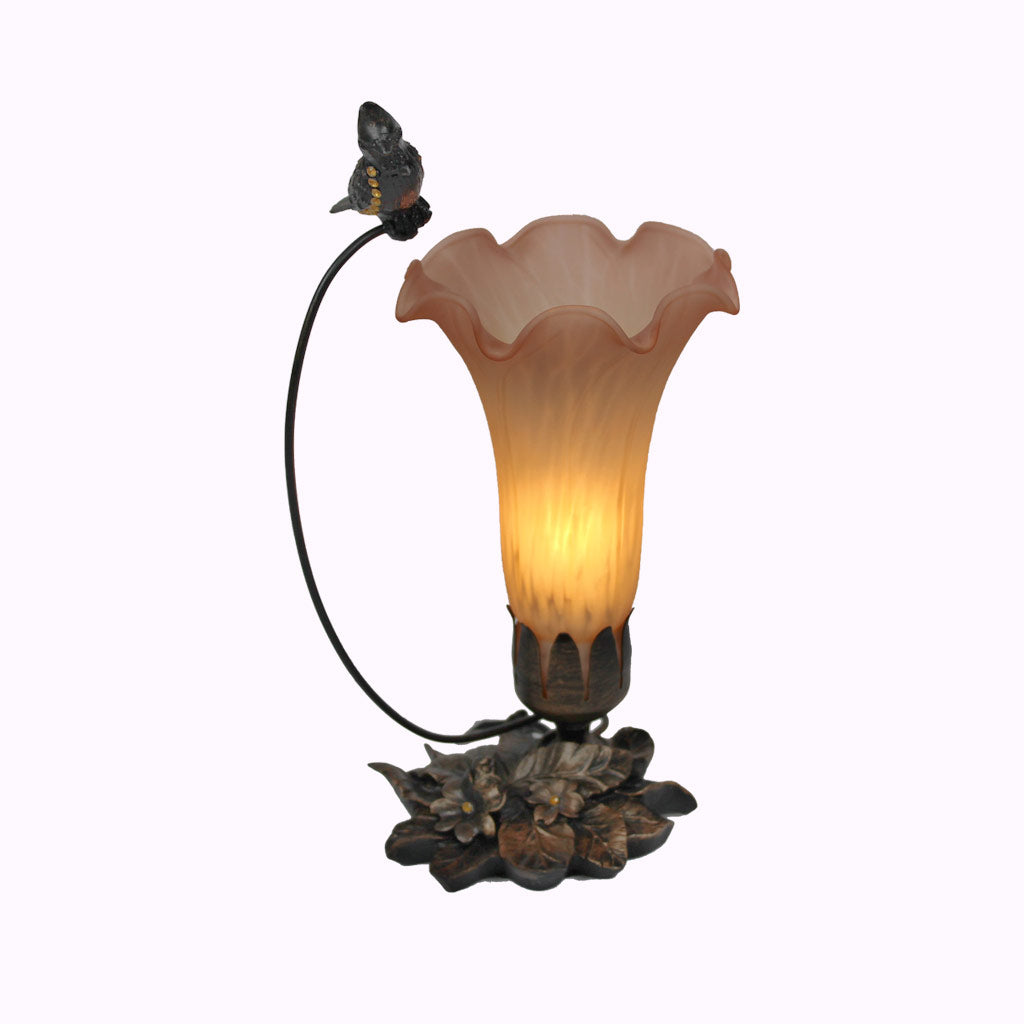 Tall Cardinal Sculptured Bronze Lamp