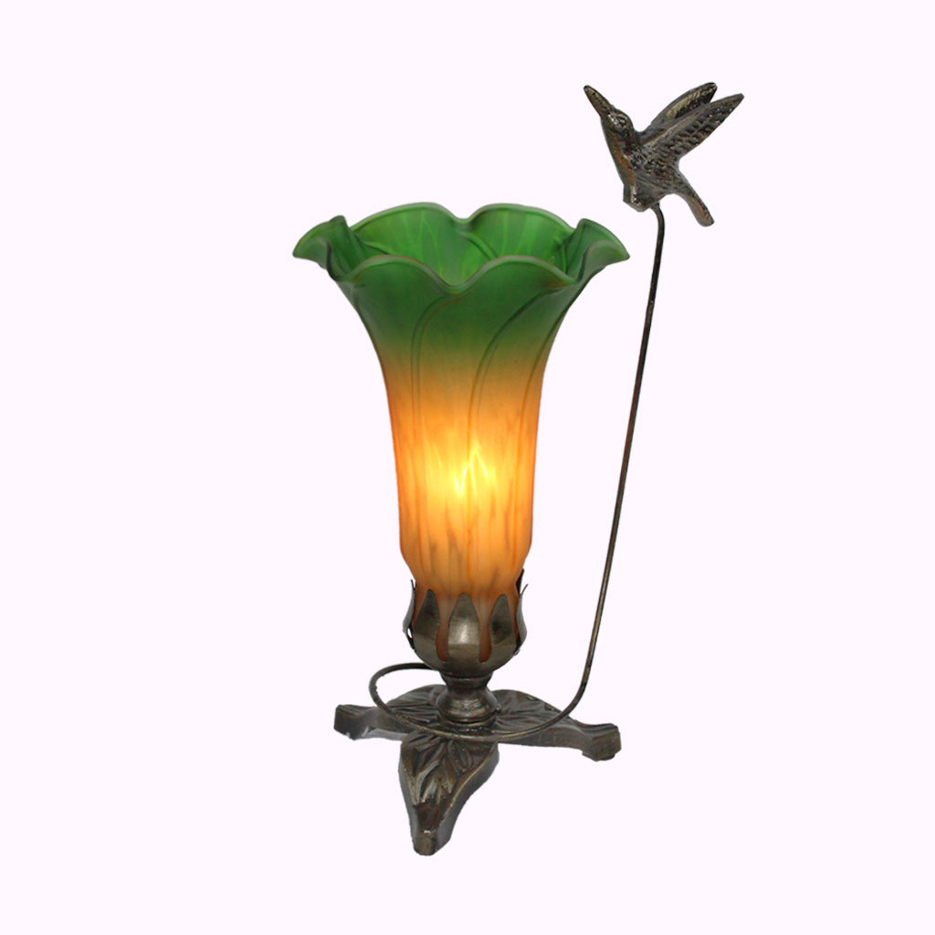 Tall Hummingbird Sculptured Bronze Lamp