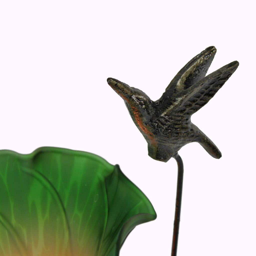Tall Hummingbird Sculptured Bronze Lamp from Memory Lane Lamps
