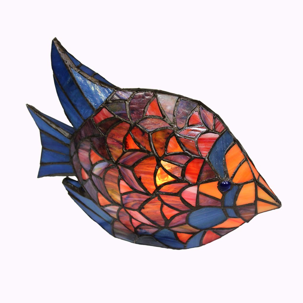 Tropical Fish Tiffany Accent Lamp